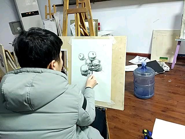 李杰老师做范画