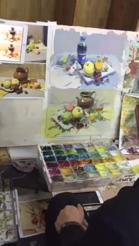 万松岭色彩大咖——侯老师的色稿