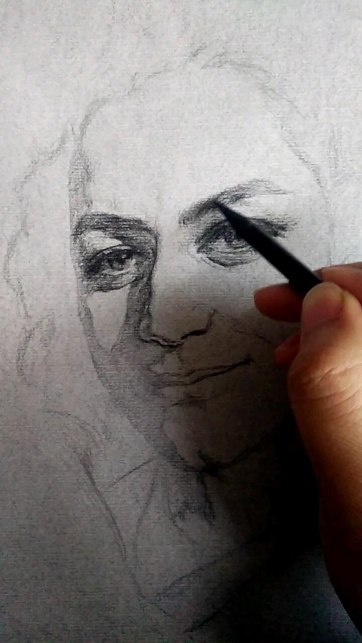 画一张朋友艾琳的肖像