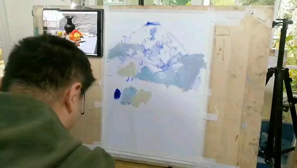 #济南传承画室# 鲁老师色彩步骤解析快视频~ 想要了解更多鲁老师作品~关注我呦😉