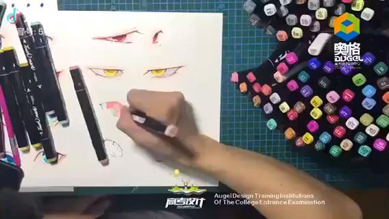 动漫人物眼睛的画法。私信哦