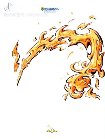 水,火焰的画法,喜欢画画的宝贝们,可以私信我哦