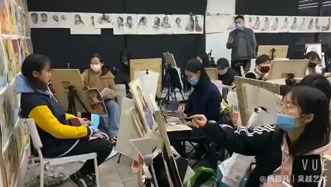 杭州吴越画室的新年课堂,春节和非典冠状病毒都无法阻挡我们上课和求知的热情💪[强]