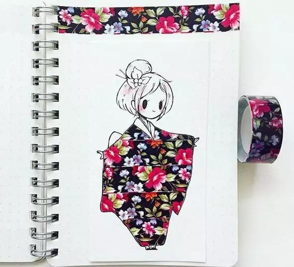 她没有插画功底, 更不是美术生,却靠纸胶带插画吸粉万千。