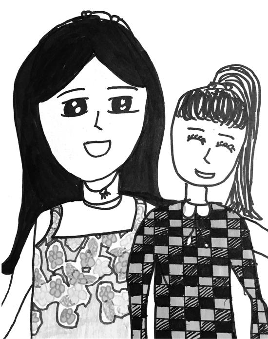 9岁女孩画患胃癌妈妈 每一张都让人看得想哭