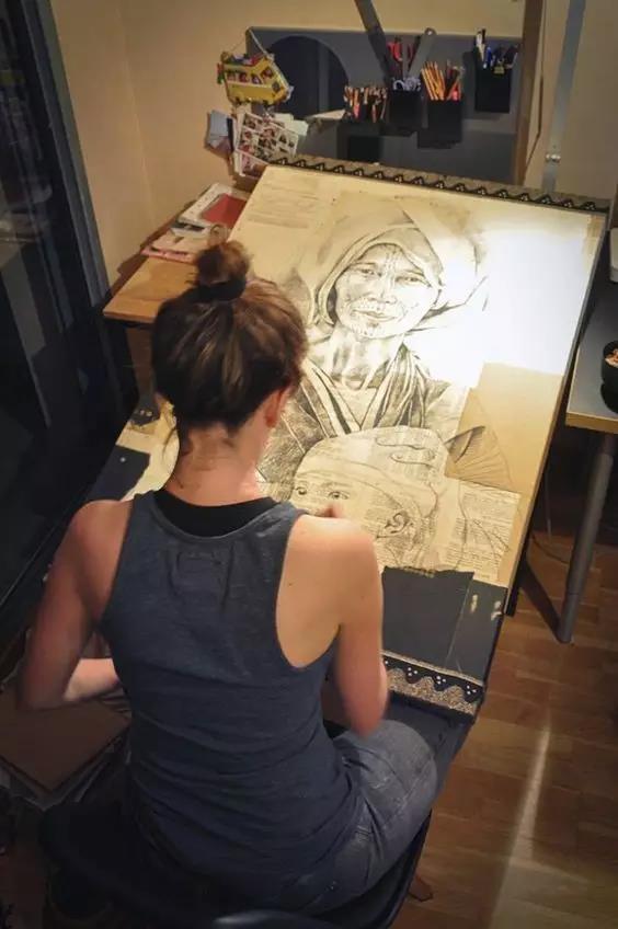 会画画的女人,不仅漂亮,还超有气质!