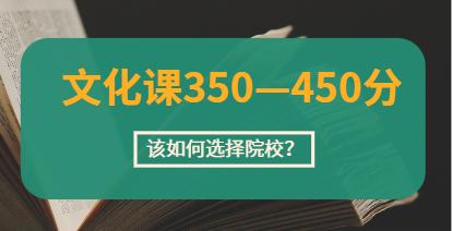 择校攻略!美术生文化课350-450分,如何选择院校?