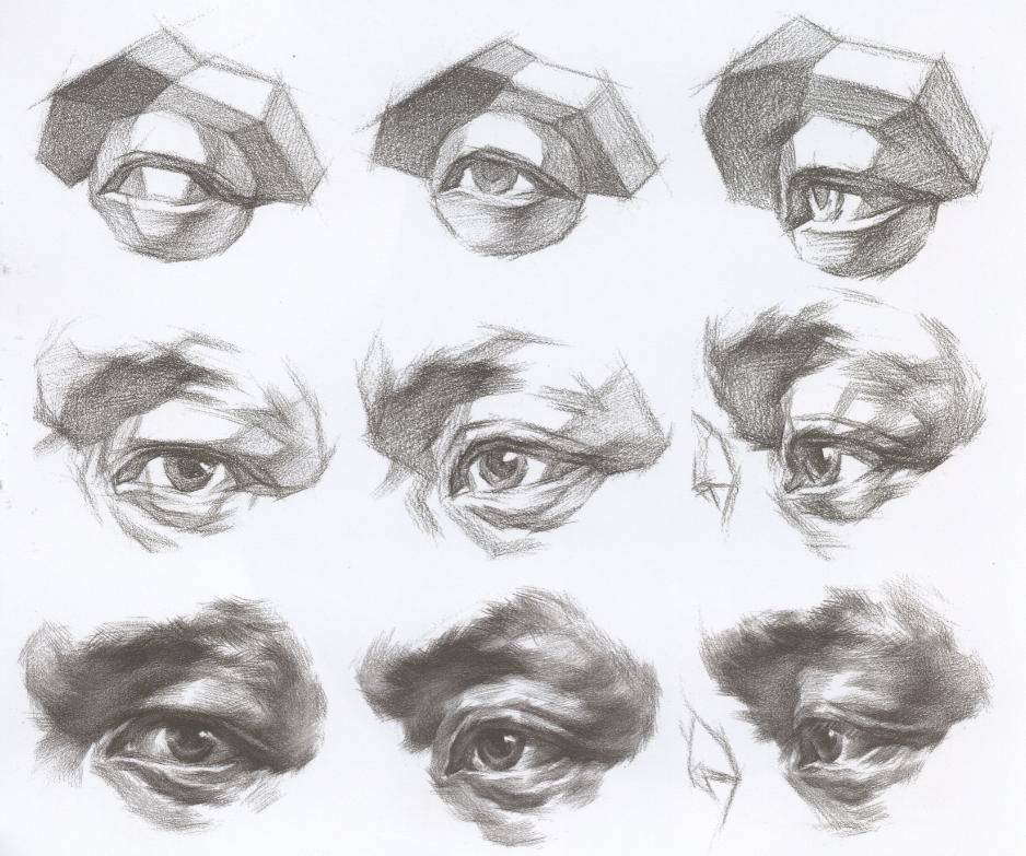 【干货高分】怎样处理好素描头像的戴眼镜、帽子、围巾!