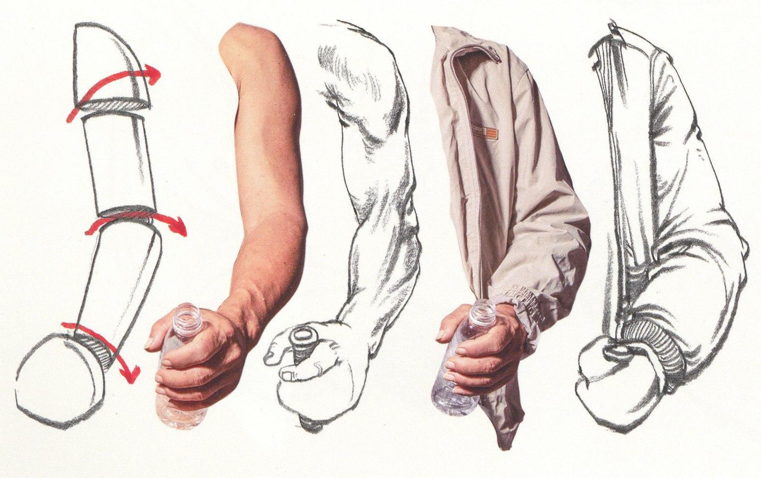 【高分干货】速写人物之衣褶穿插的表现方法