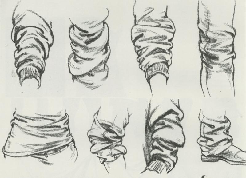 【高分干货】速写小细节 - 头、手、脚、衣褶局部精讲!