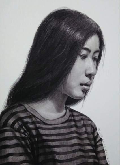 本人素描!大家相互交流学习!欢迎关注杭州美胜画室!