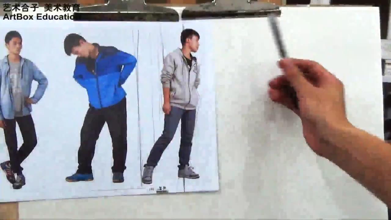 上海艺术合子美术教育罗荣志老师速写站姿