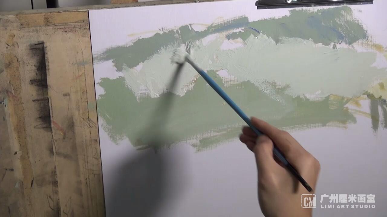 厘米画室:色彩静物示范画---衬布