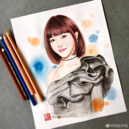 【手绘明星】【五十三期】集齐9位女神手绘作品,你更喜欢哪一位呢? 投稿(@白豆腐_