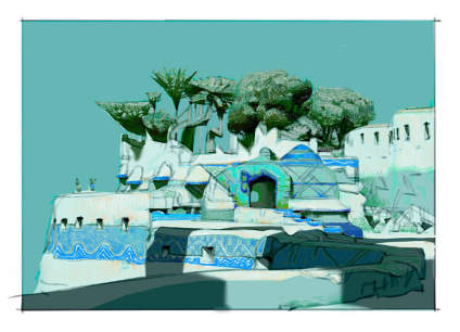 #留学路上#美国CG艺术家 Theo Prins 一组场景绘画艺术 