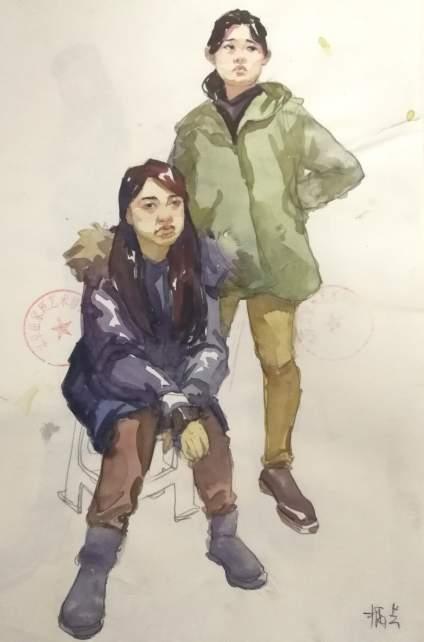 就是与众不同~不一样的北京动漫翟家班彩色速写!!!加油孩子们真棒!!!加