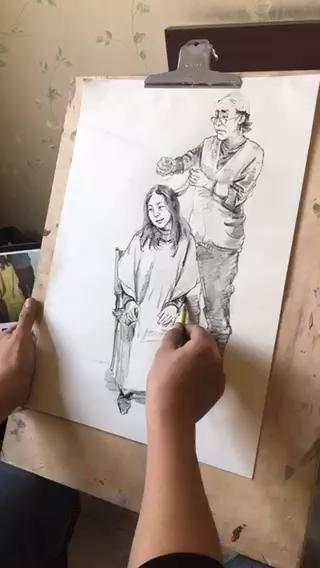 直击2018河北省美术联考【速写】同步真题示范