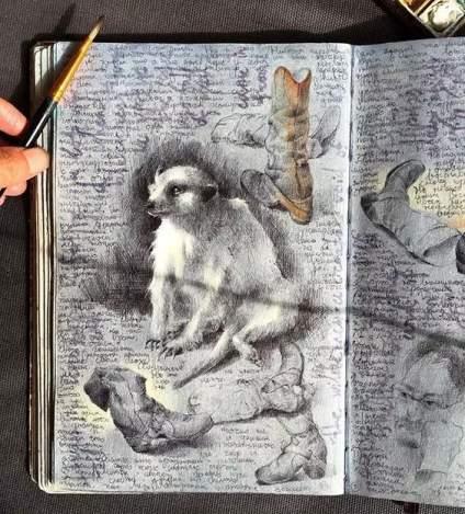 【中央美术学院】认真画画的态度,看看她的速写本!