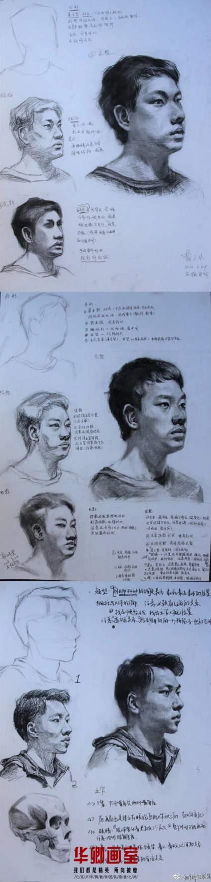 【学霸笔记】定向名校班日常课堂练习 画画也需要做笔记?当然! 因为画画的