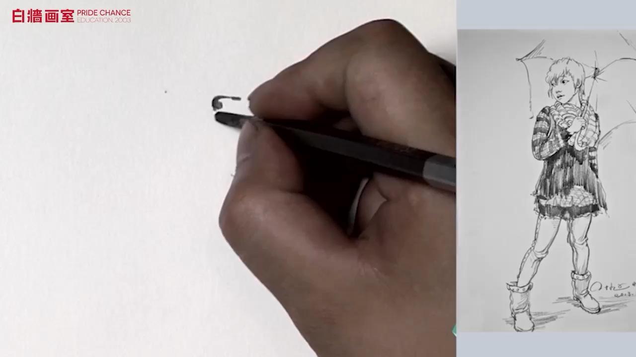 【美術培訓班】線面速寫-單人-站姿