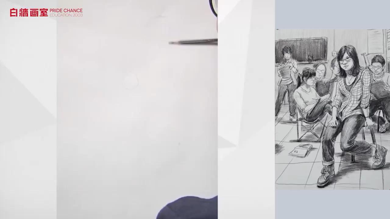 【杭州白墻畫室】場景速寫-三人以上-畫室一角(一)