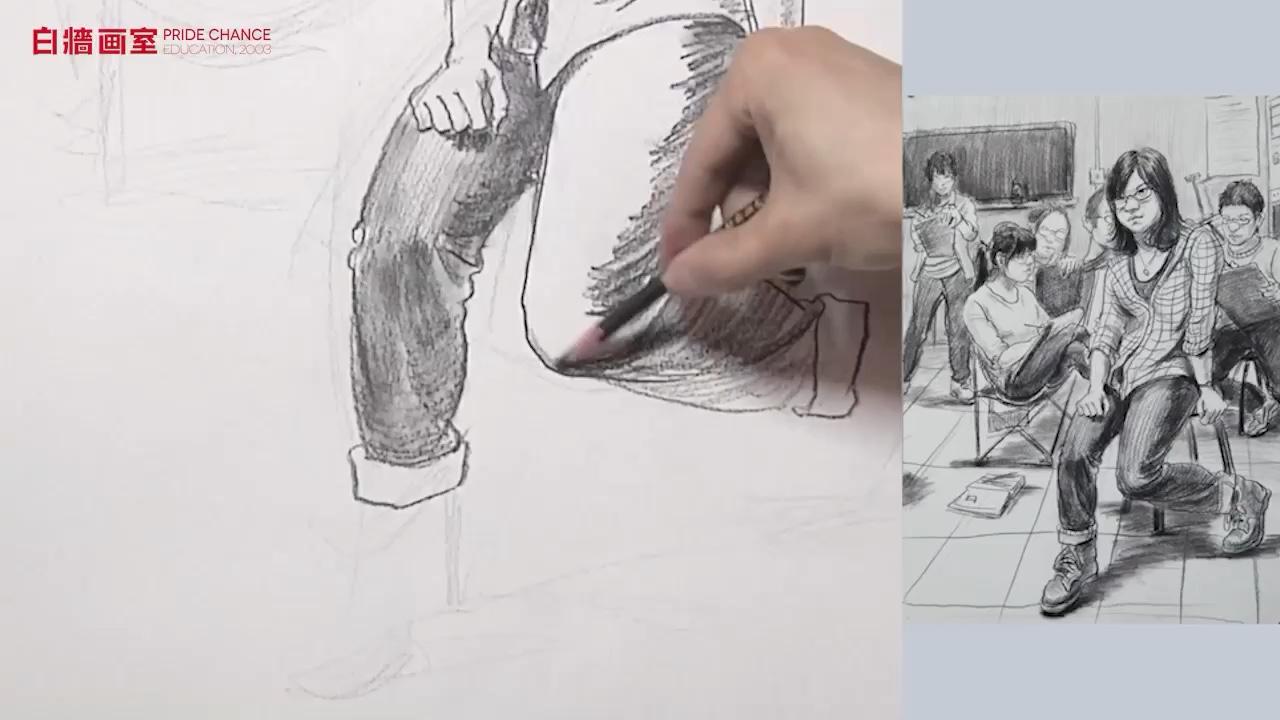 【杭州白墻畫室】場景速寫-三人以上-畫室一角(二)
