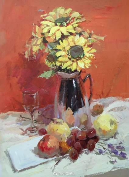【滴~色彩卡】十个美术生九个不会画花!今天老师就和你们来说一下花卉的画法😎😎😎 花卉的