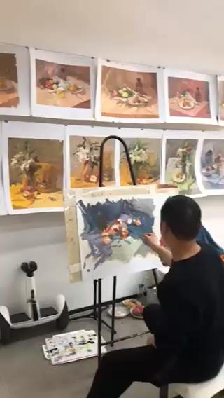 吳越藝術色彩組教研,氛圍不錯[強]
