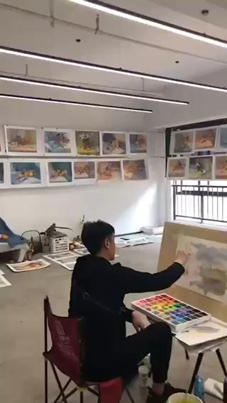 杭州吳越藝術色彩教研內訓風景實戰課程,大家氛圍不錯[強]