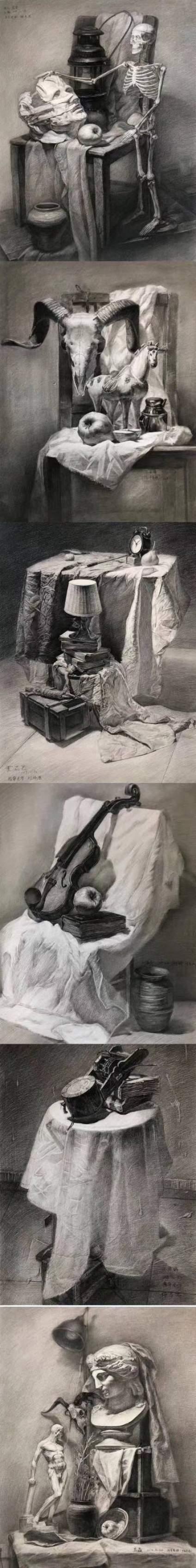 【滴~素描卡】济南小泽画室 学生入学一个月的作品 同学们的进步就是老师最大的欣慰