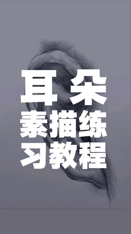 杭州将军画室|素描耳朵的画法,有需要的同学可以看一下!