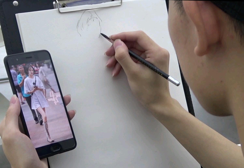 杭州将军画室|女速写作品示范!不会脸部画法的同学,赶紧看!