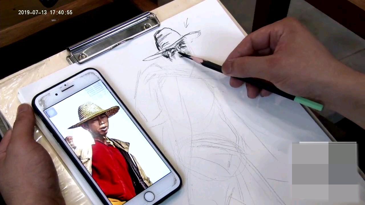 杭州将军画室|男中年速写,速码!