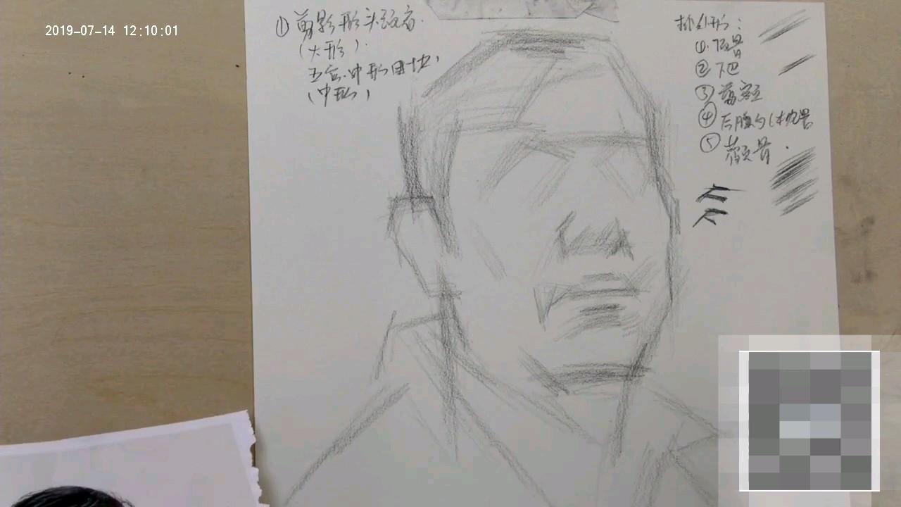 杭州将军画室|男中年素描头像详细解说!