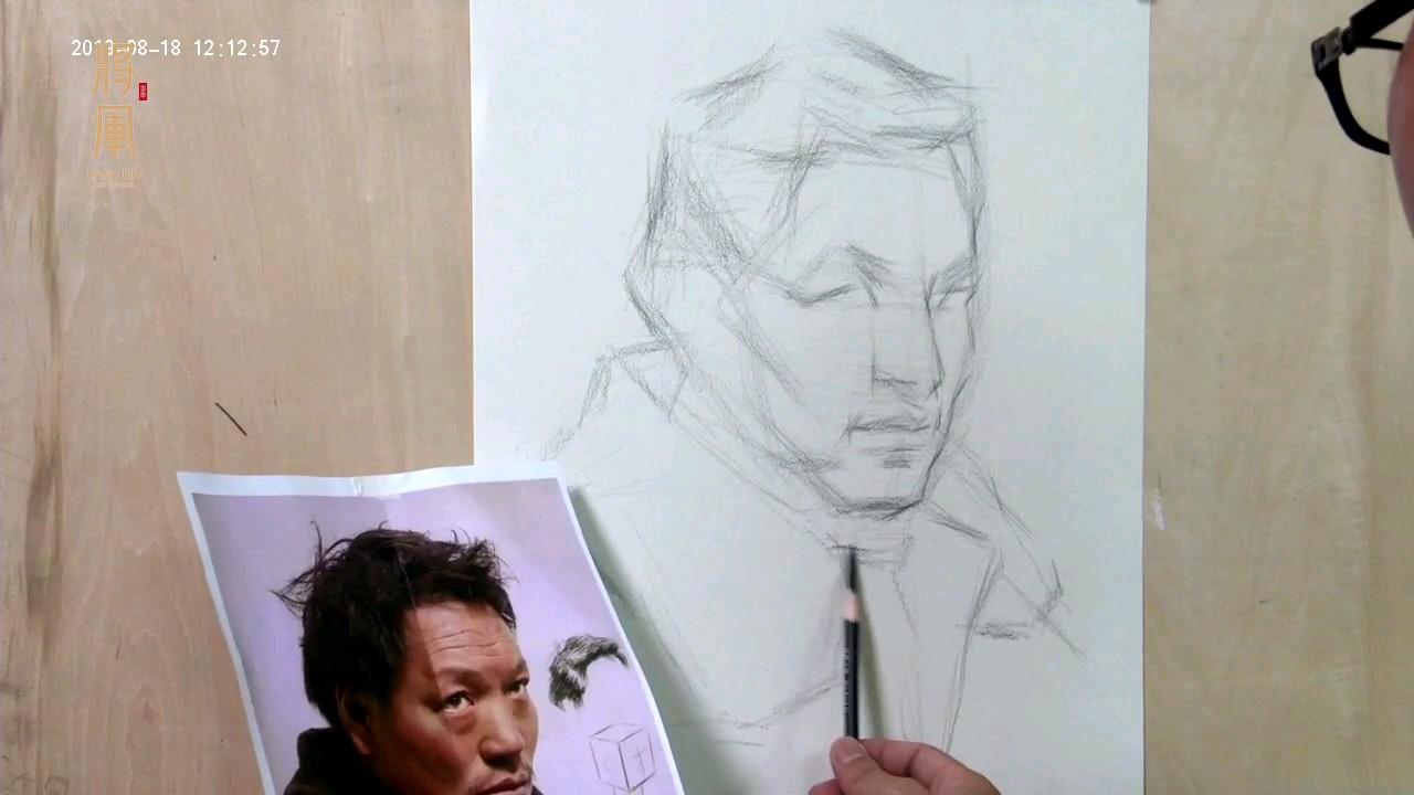 杭州将军画室|素描名师黄贤盛素描人物头像视频!