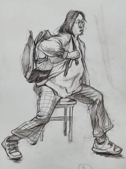 老师看看速写画的呢?