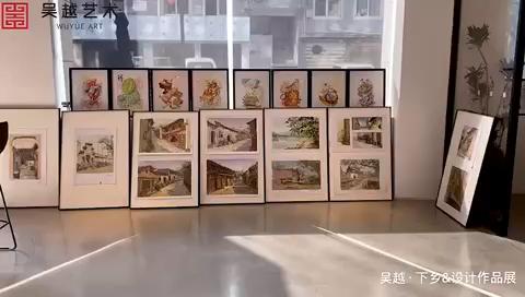 杭州吳越畫室|麗水下鄉寫生&近期設計作品展,歡迎同學們和家長前來參觀,地址:杭州市富陽區·富春街道·巨利路39號,吳越藝術學校大廳