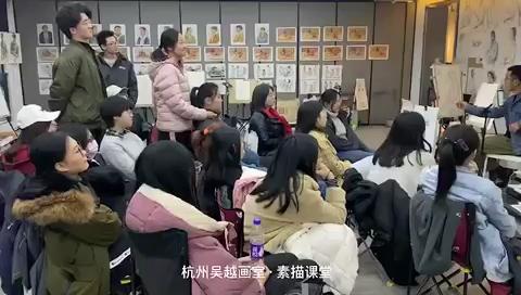 杭州吳越畫室·全國彩頭名師張林老師,色彩頭像課[強]