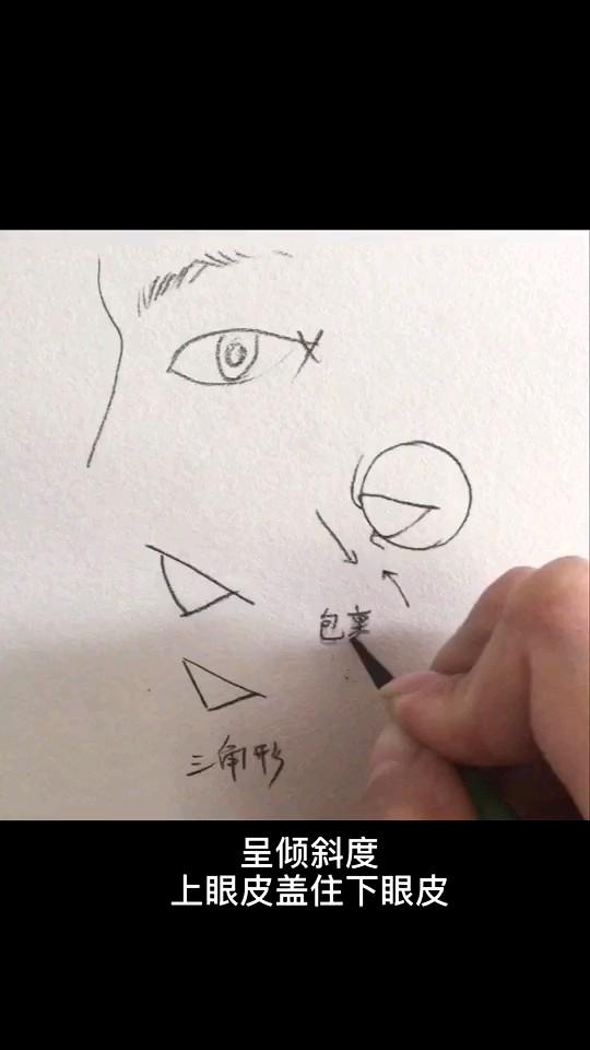 看完这个视频,你就会画侧面眼睛啦(๑• . •๑)