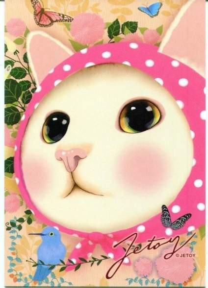 【手绘萌宠大集合】Jetoy Choo Choo 的猫咪系列插画,这么一副懵懂的表情感觉要