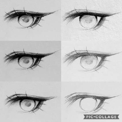 【0基础绘画如何入门?】分享一组眼睛,嘴巴和头发的画法过程图  作者:d00miino