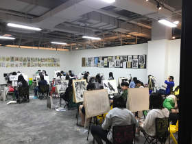 重庆洪学美术学校教室图8