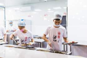 杭州白墻畫室食堂圖1