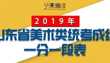 2019年山东省美术类统考成绩一分一段表