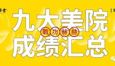2019年厚一学堂九大美院成绩汇总(完整公示)