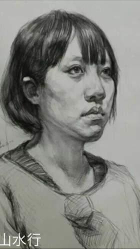 杭州山水行画室素描图7