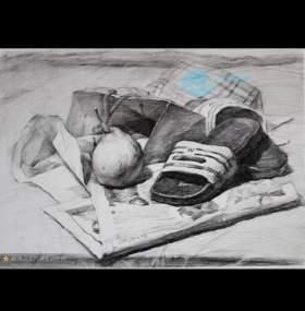 杭州山水行画室素描图3