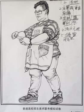 江山艺术培训学校速写图2