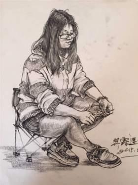 江山艺术培训学校速写图4