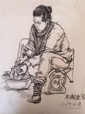江山艺术培训学校速写图7